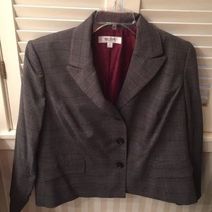 Jones New York Studio Separates grey plaid blazer